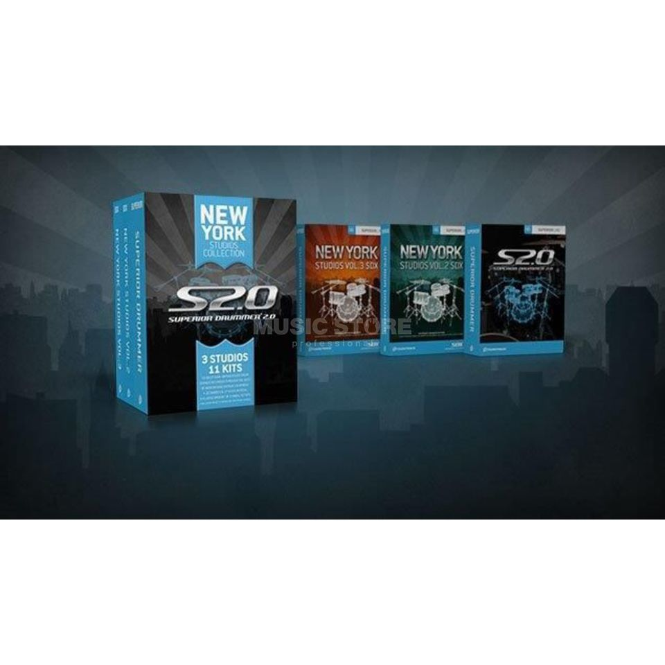 Toontrack Superior Drummer 2 &  NY Studios Collection Produktbild