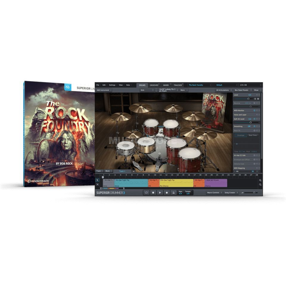 Toontrack The Rock Foundry SDX Boxed Product Image
