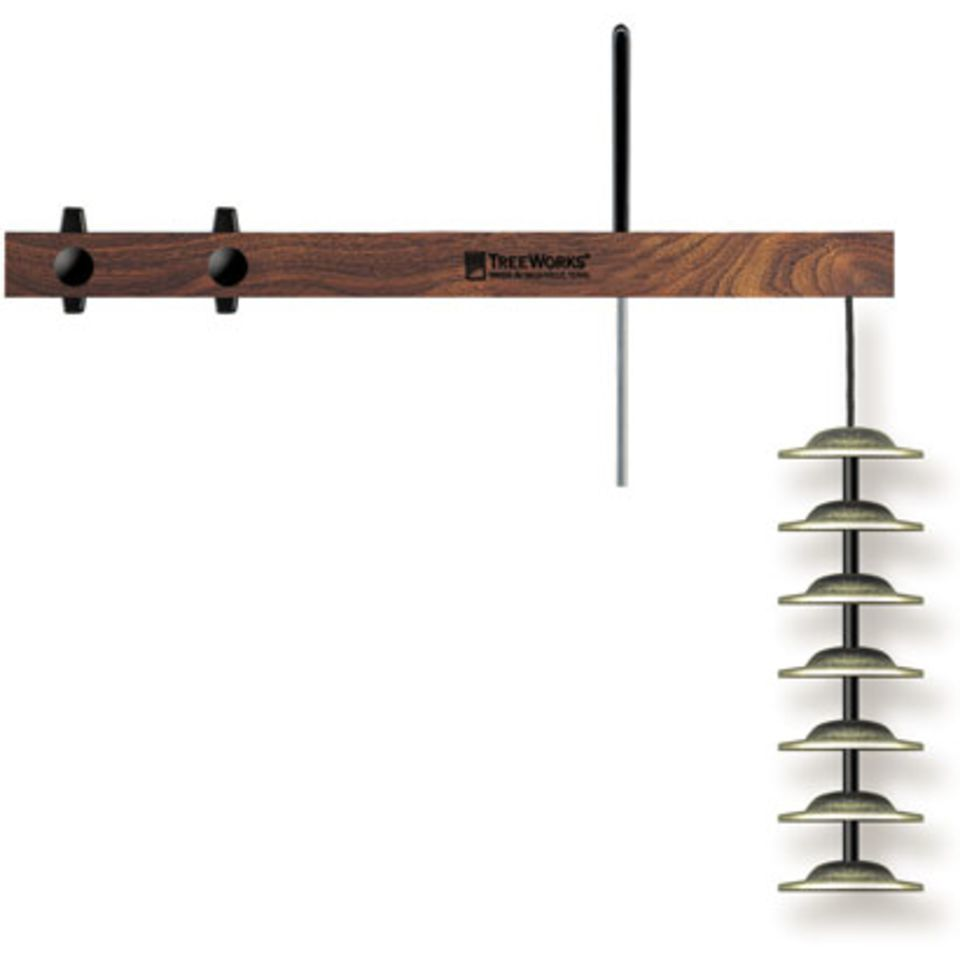 TreeWorks TRE01 Finger Cymbal Tree, 7 Cymbals, inkl. Halter Produktbild