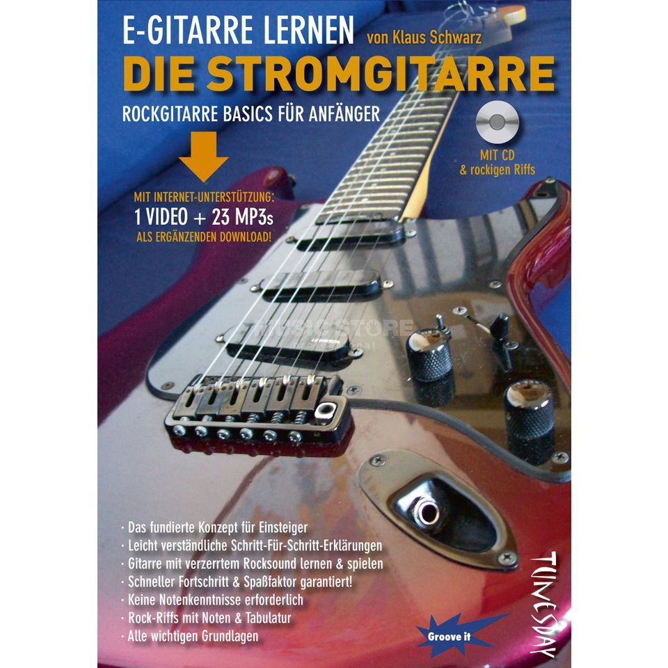 Tunesday E-Gitarre lernen - DIE STROMGITARRE Product Image