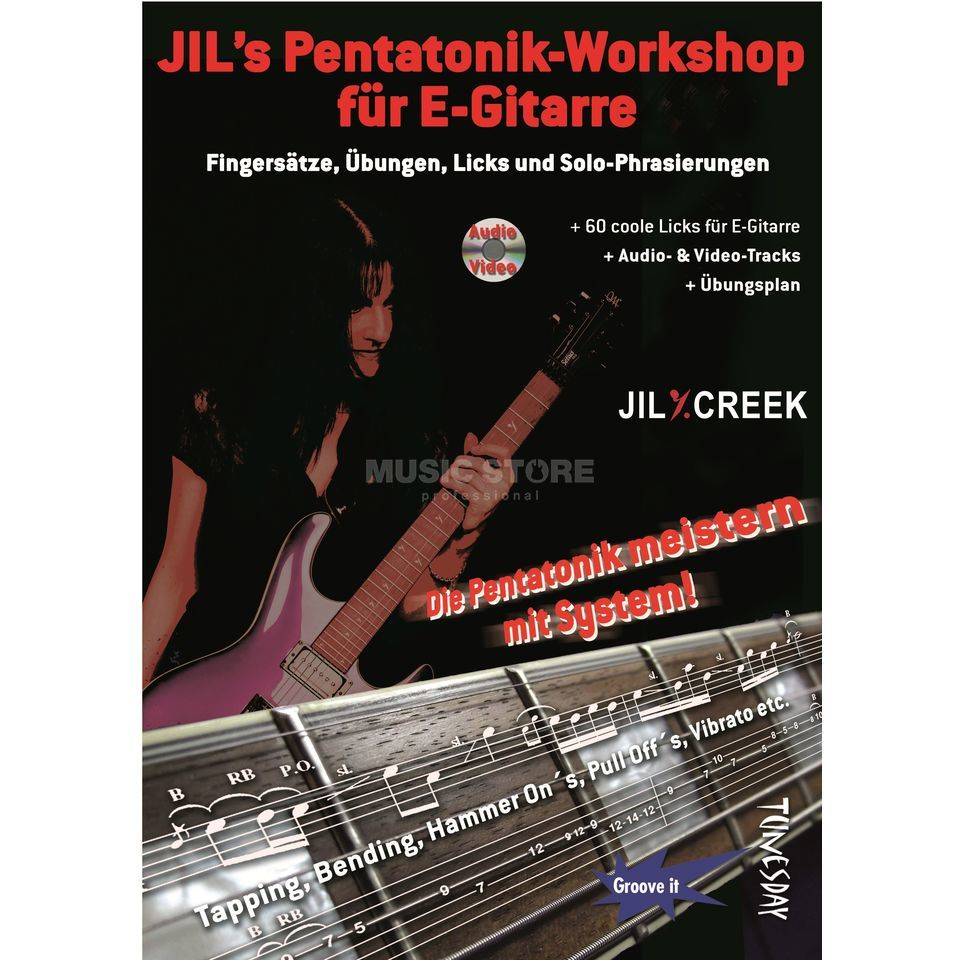 Tunesday Jil's Pentatonik-Workshop E-Gitarre, Jil Y.Creek, mit CD Produktbillede