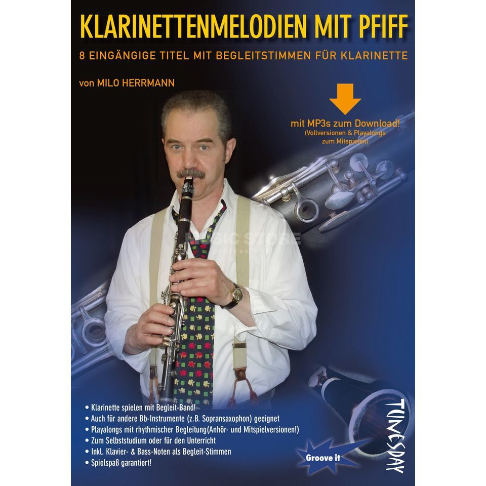 Tunesday Klarinettenmelodien mit Pfiff Milo Herrmann, inkl. Download Product Image