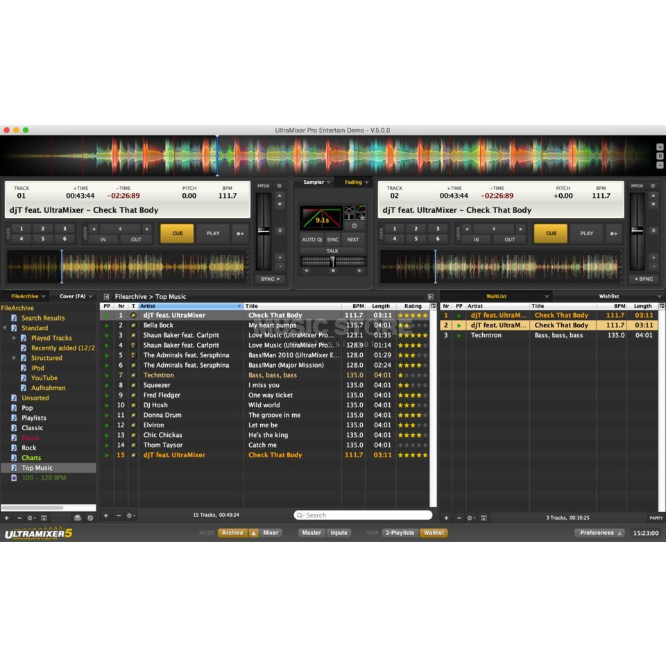 UltraMixer 5 Pro Entertain (Windows) Produktbild