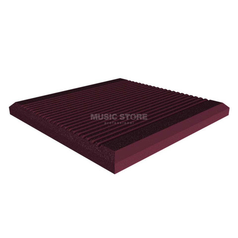 Universal Acoustics Jupiter Wedge 600x600x50 mm 10er Pack, gerieft, burgunder Produktbild