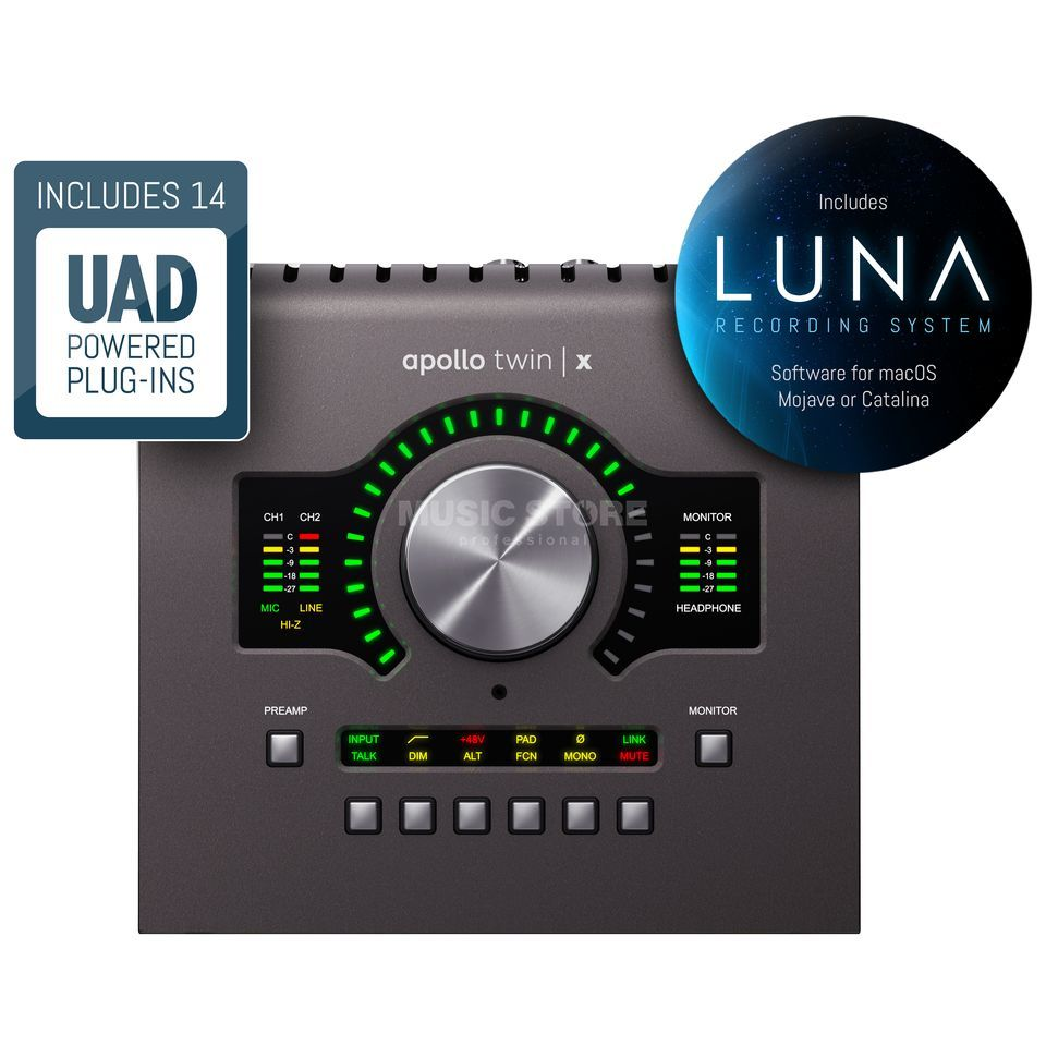 Universal Audio Apollo Twin X Quad (Thunderbolt)  | MUSIC STORE professional | ru-RU