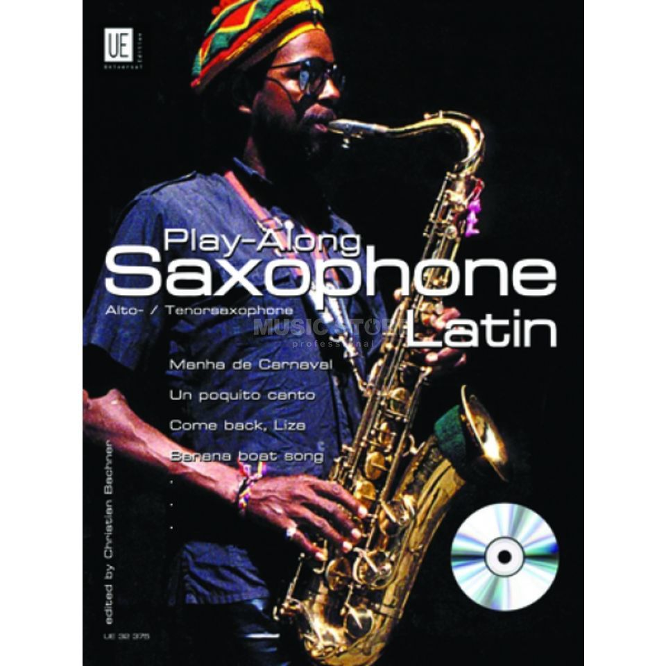 Universal Edition Latin Play Along Saxophone Bachner, Sax/CD Produktbillede