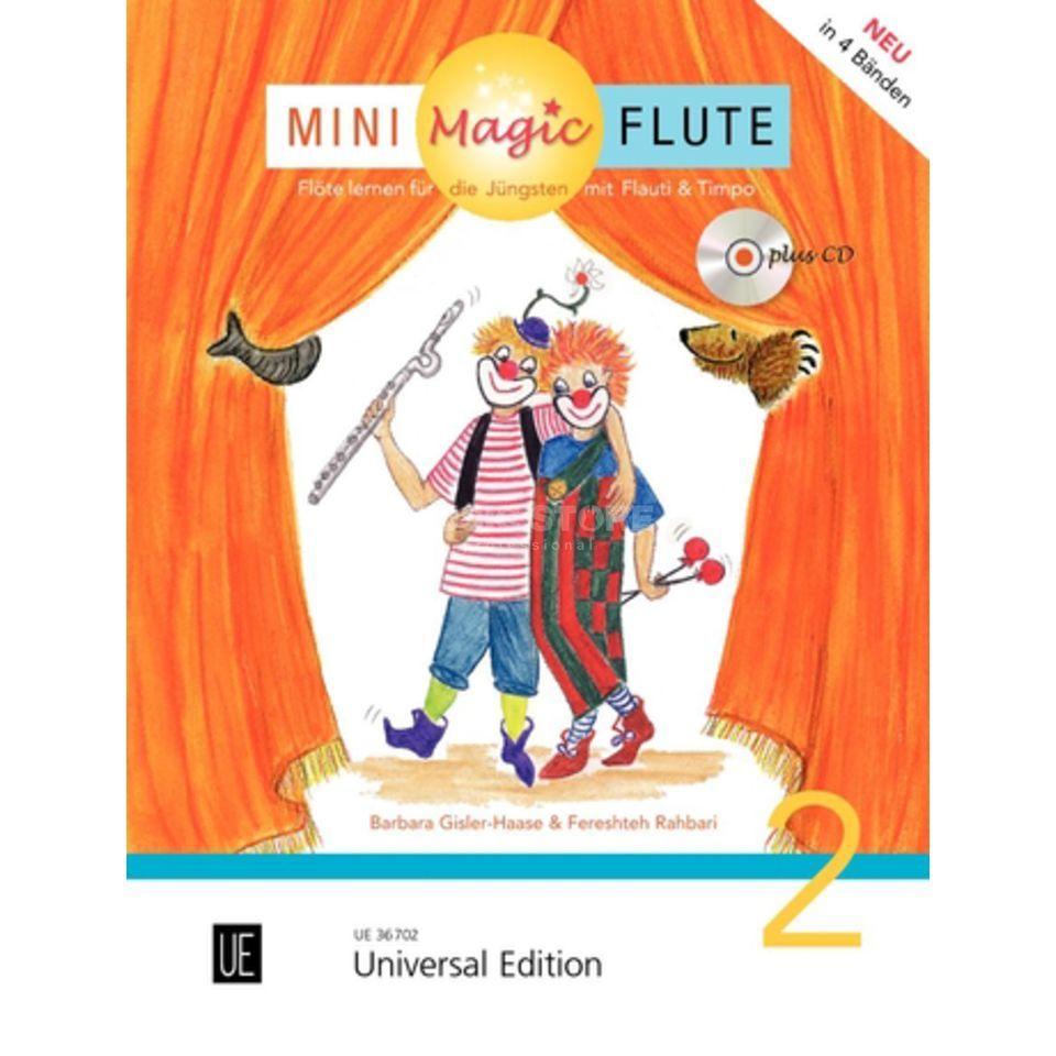 Universal Edition Mini Magic Flute 2 Barbara Gisler-Haase, Flöte/CD Produktbild