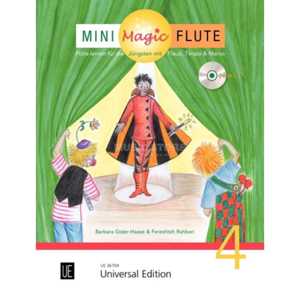 Universal Edition Mini Magic Flute 4 Barbara Gisler-Haase, Flöte/CD Produktbillede