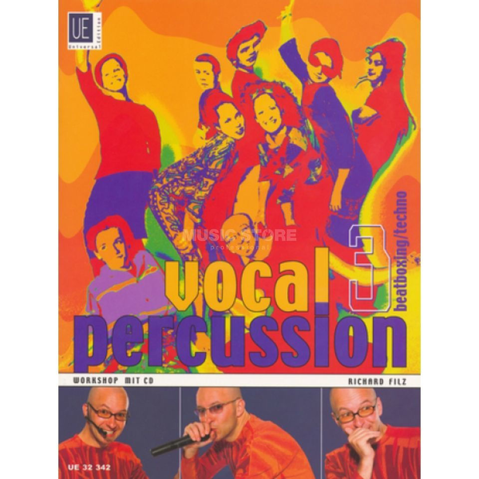 Universal Edition Vocal Percussion 3 mit CD Richard Filz Produktbild