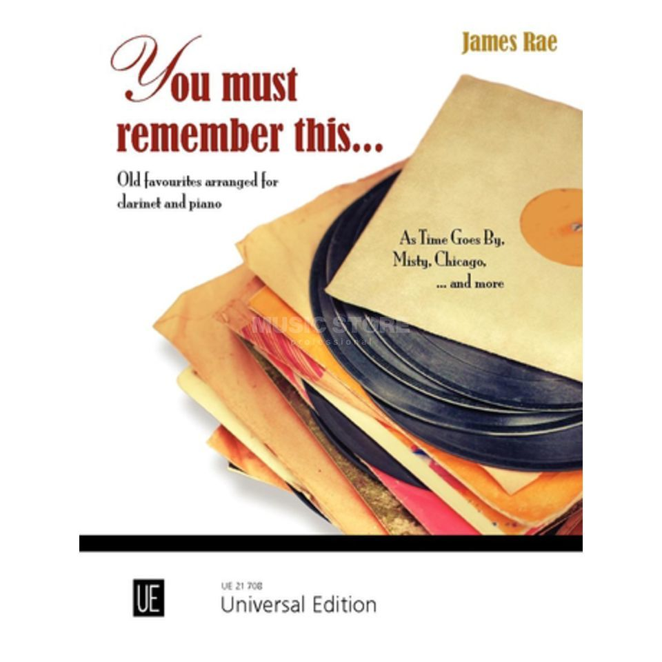 Universal Edition You must remember this... Produktbild