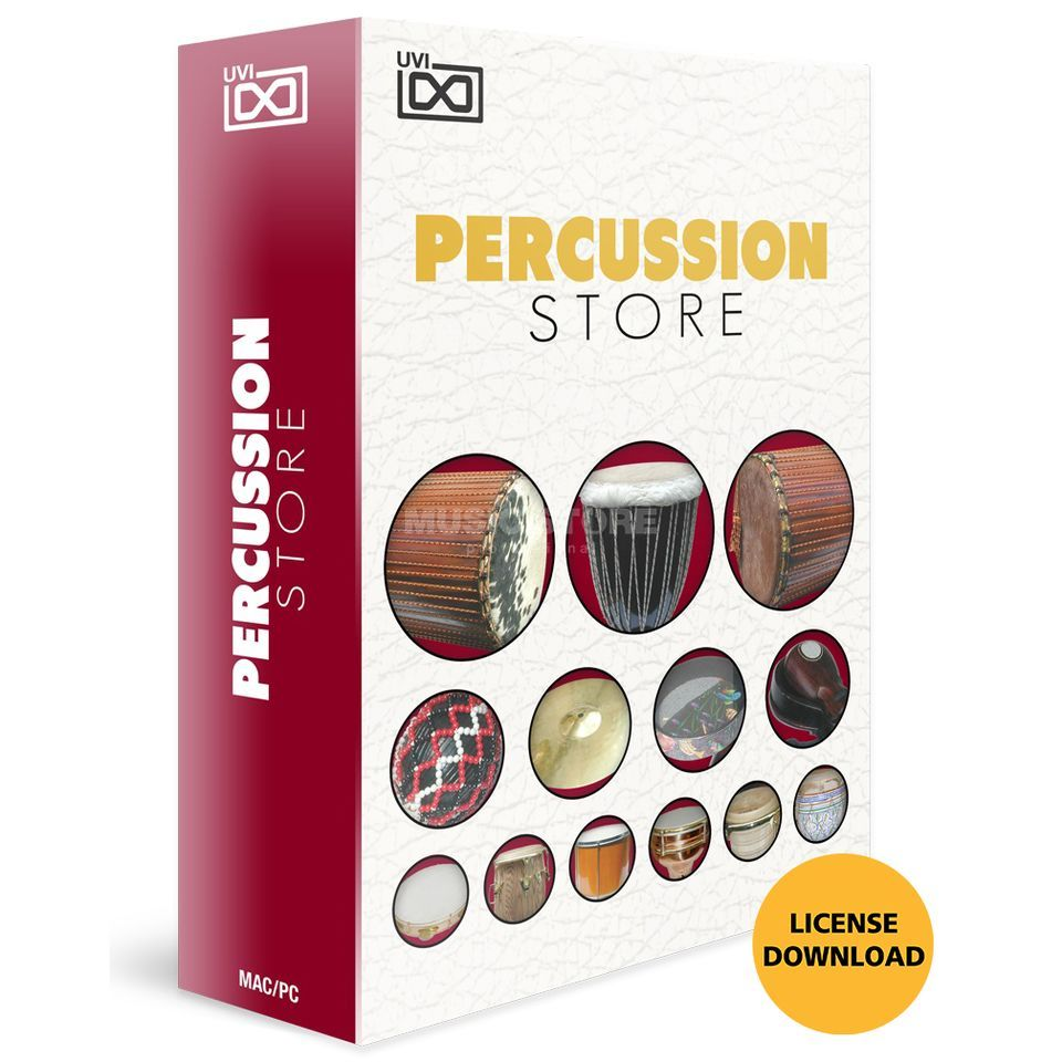 UVI Percussion Store (Lizenz) Software Instrument Produktbild