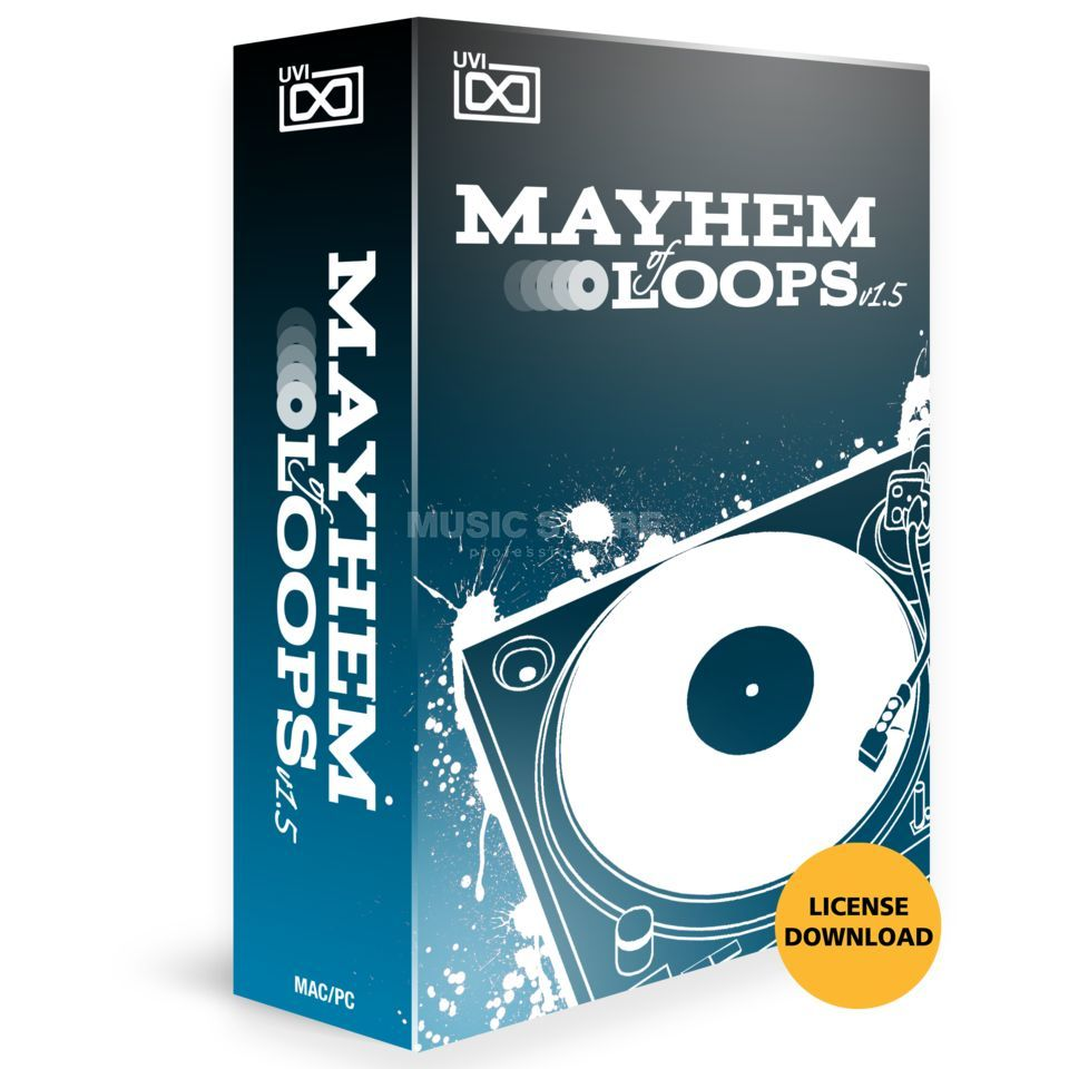 UVI Sounds & Software Mayhem of Loops V1.5 (Lizenz) Software Instrument Produktbild