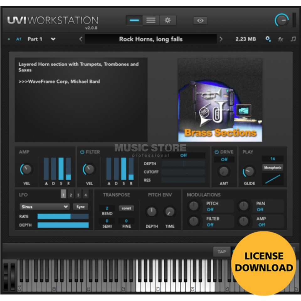 UVI WaveFrame Sound Coll. CODE Software Instrument /Download Produktbillede