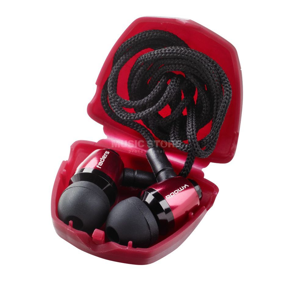 V-Moda Faders VIP by Ear Armor rouge Productafbeelding