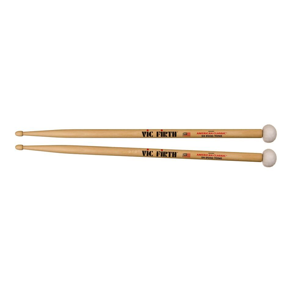 Vic-Firth 5ADT Combination Sticks, Wood Tip & Felt Mallet Produktbillede