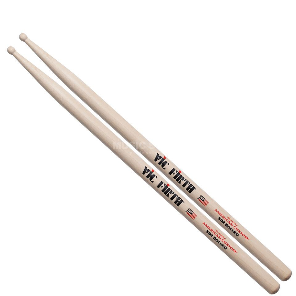 Vic-Firth SD2 Bolero Sticks, American Custom, Wood Tip Produktbillede