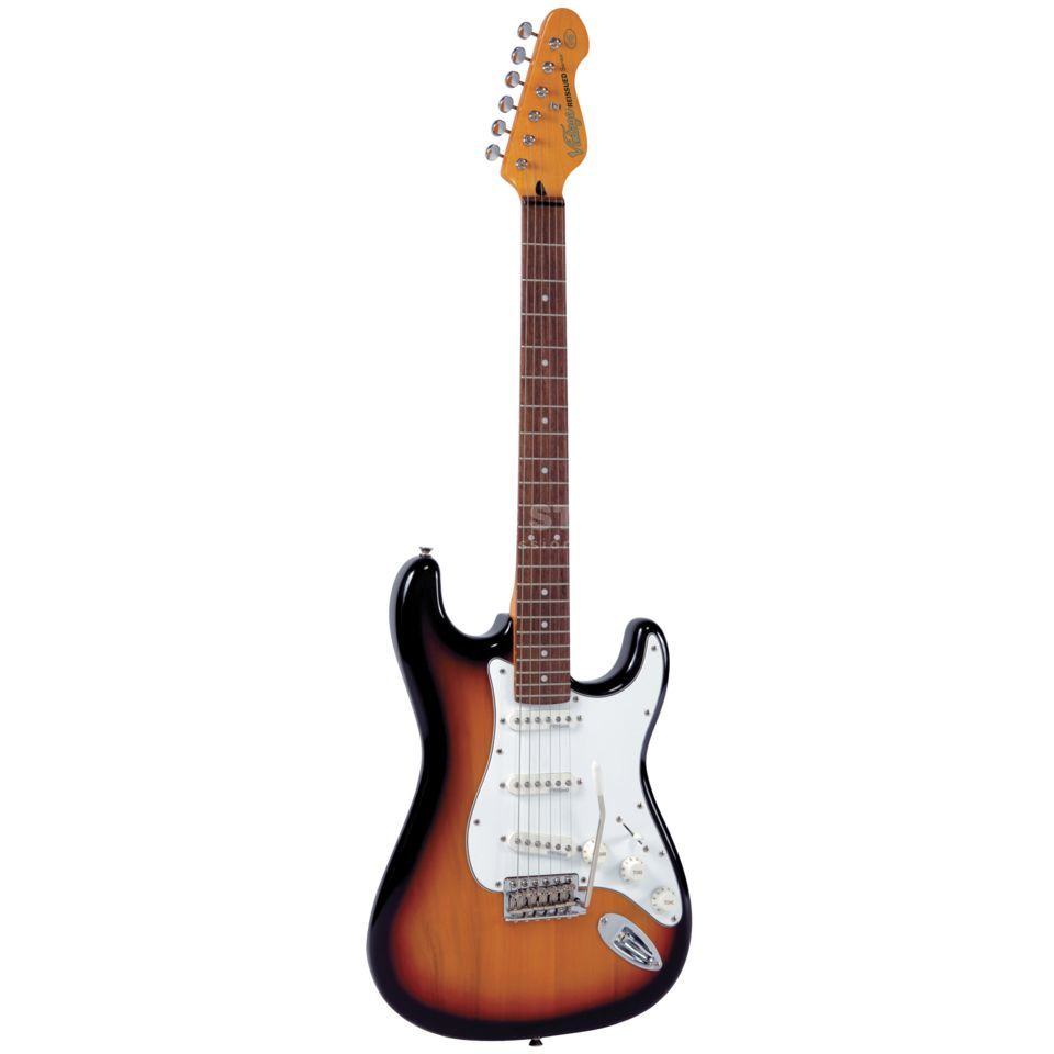 Vintage V6 Electric Guitar, Sunset Sun burst   Produktbillede