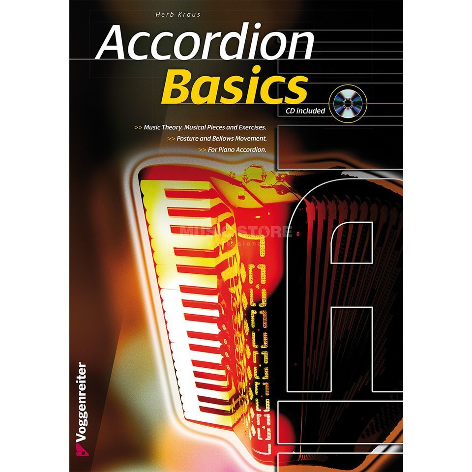 Voggenreiter Accordion Basics ENGLISH Herbert Kraus / incl. CD Produktbild