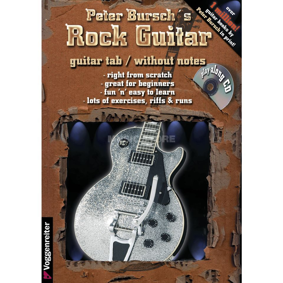 Voggenreiter Bursch's Rock Guitar ENGLISH primer/ incl. CD Produktbillede