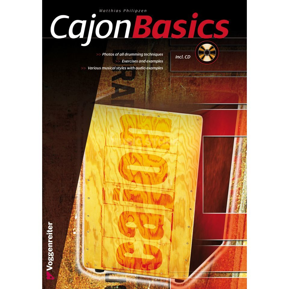 Voggenreiter Cajon Basics ENGLISH M. Philipzen, CD included Produktbillede