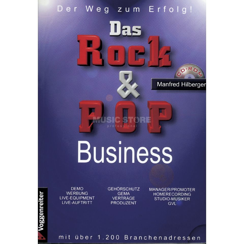 Voggenreiter Das Rock & Pop Business Manfred Hilberger,inkl. CD Produktbild