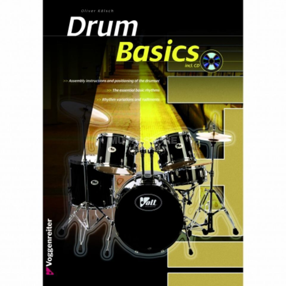 Voggenreiter Drum Basics ENGLISH Oliver Kölsch, Book/CD Imagem do produto