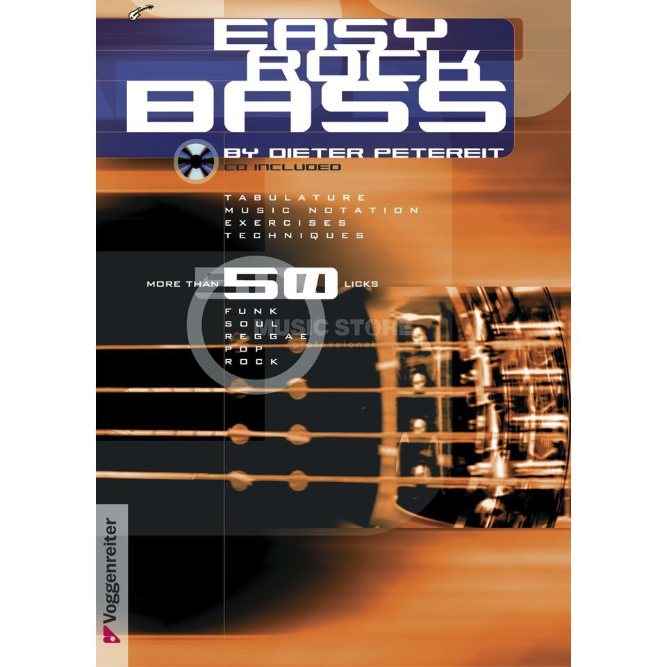 Voggenreiter Easy Rock Bass ENGLISH Petereit / primer / incl. CD Product Image