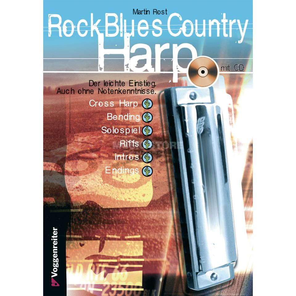 Voggenreiter Rock Blues Country Harp  Martin Rost,inkl. CD Produktbild