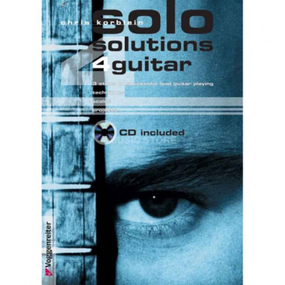 Voggenreiter Solo Solutions 4 Guitar ENG Korblein, book and CD Produktbild