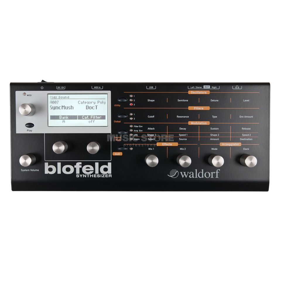 Waldorf Blofeld black Desktop Synthesizer Produktbild