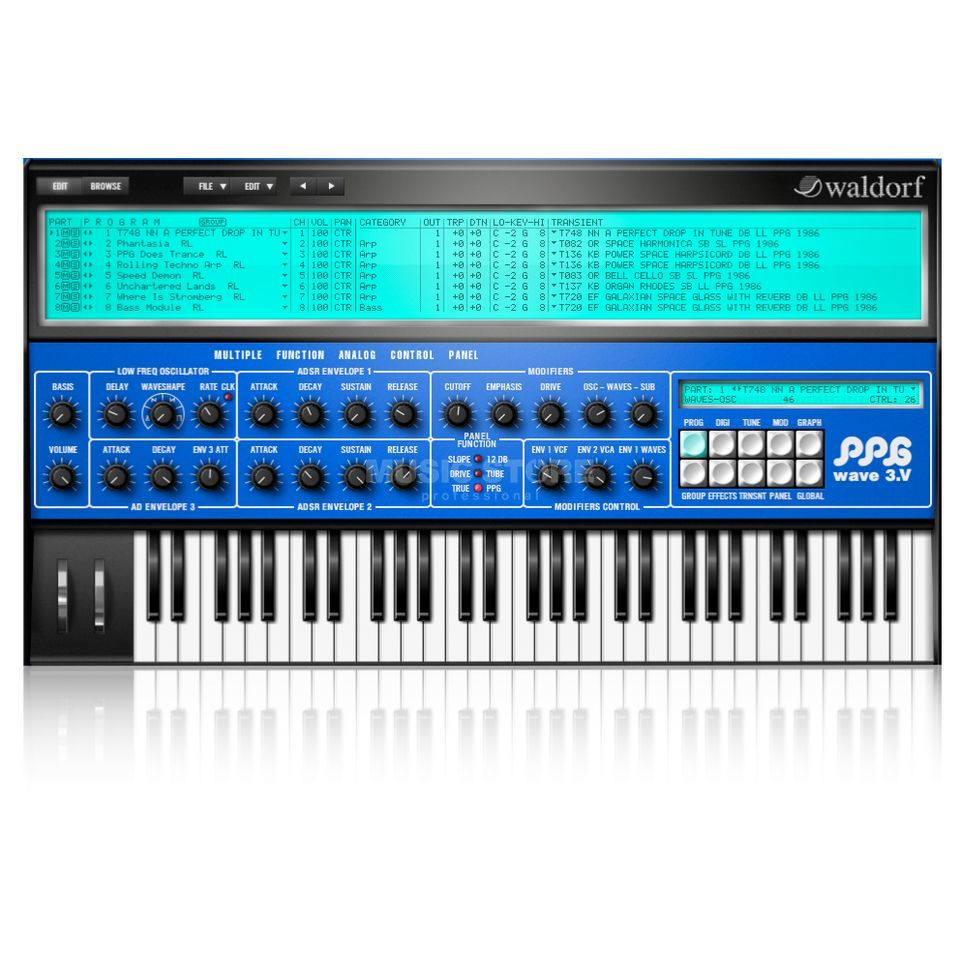 Waldorf PPG Software Synthesizer Produktbild