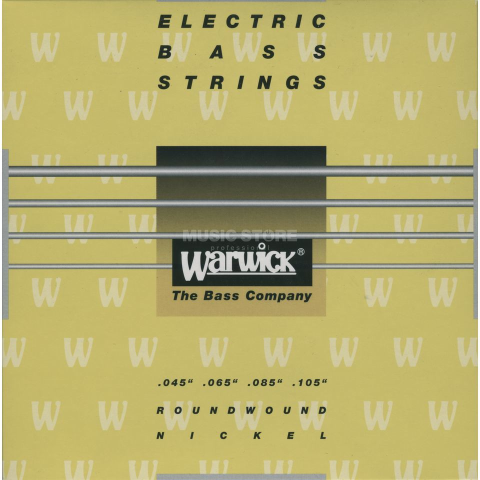 Warwick Bass Strings, 45-105,Yellow 4 String Set, Nickel Strings Product Image