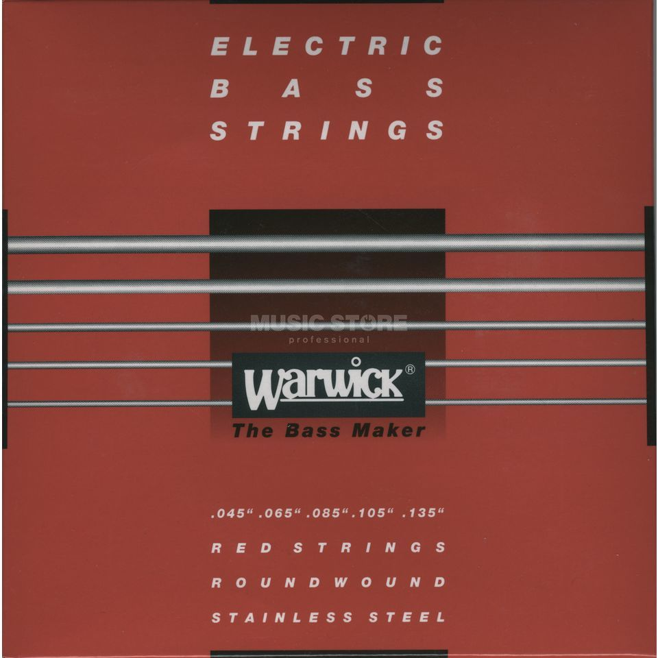 Warwick Bass Strings, 45-135, Red 5 String Set, Stainless Steel Imagem do produto