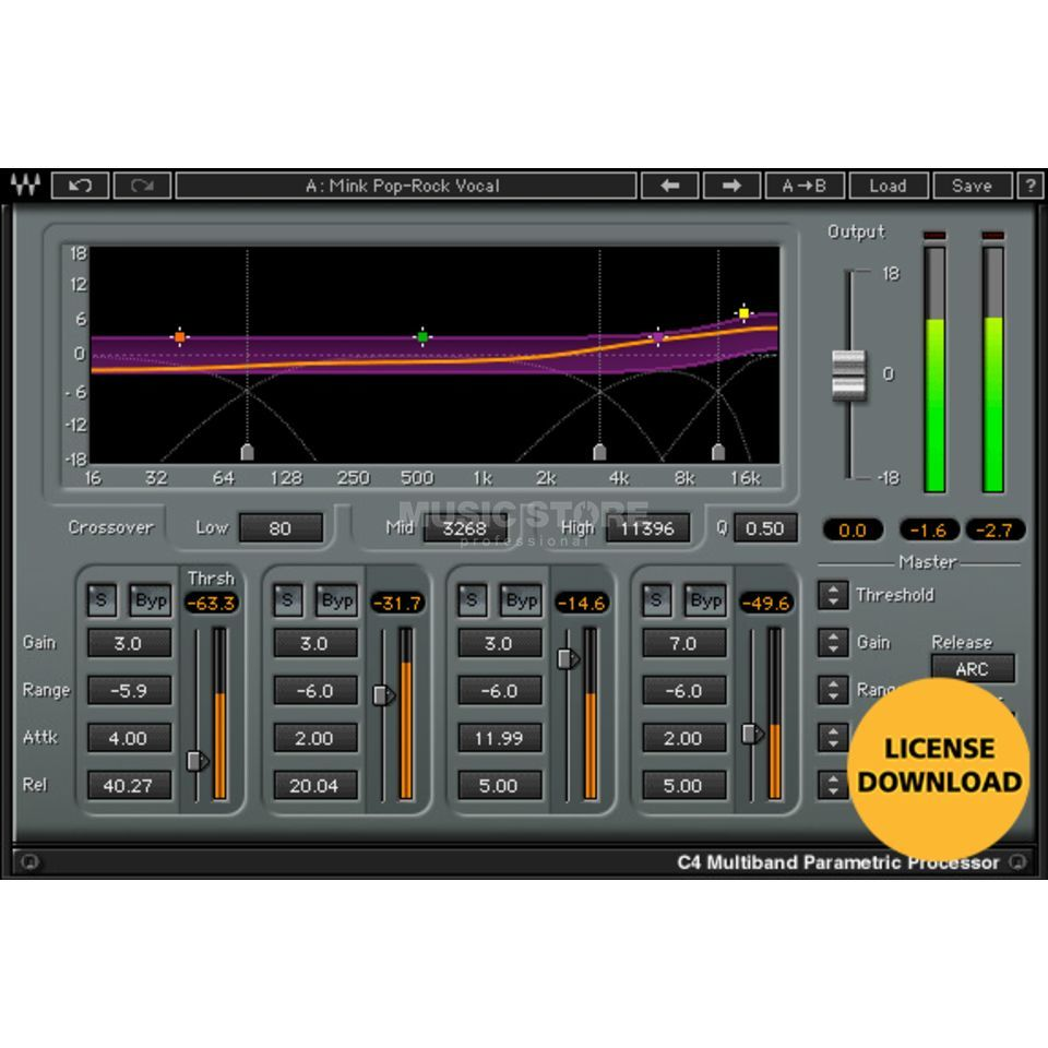 Waves C4 Multiband Compressor Produktbild