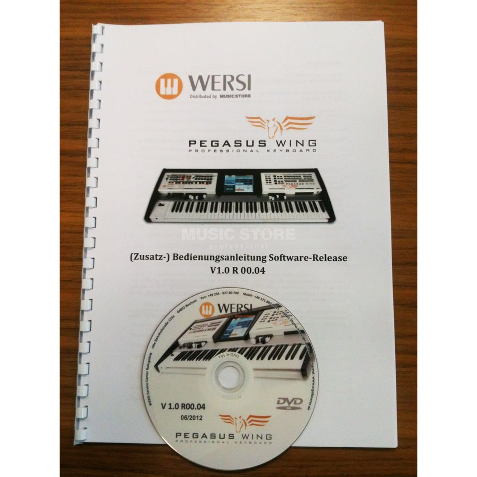 wersi additional manual pegasus wing v2 incl installation dvd rh musicstore de