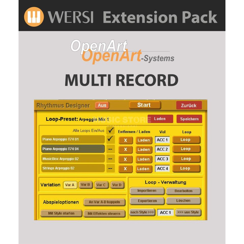Wersi MultiRecord Software (4003220) für OAS Produktbild