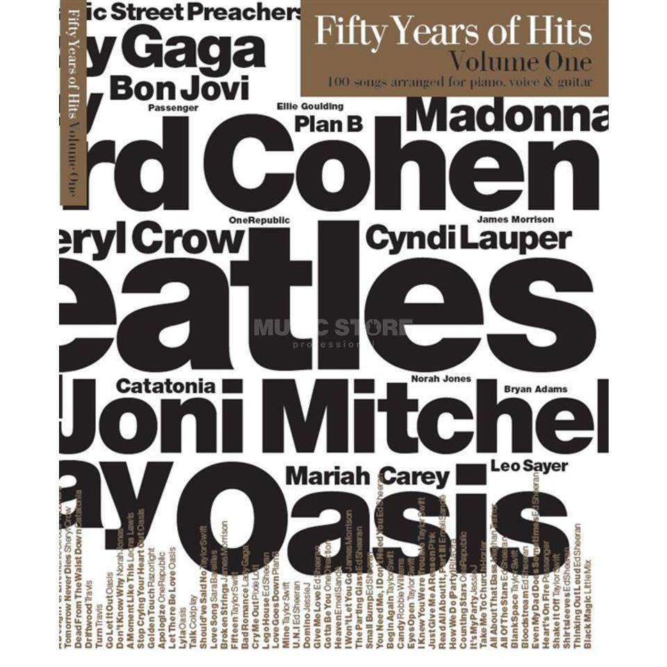 Wise Publications Fifty Years Of Hits: Volume 1 Product Image