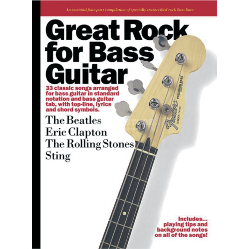 Wise Publications Great Rock for Bass Guitar Bass TAB Product Image