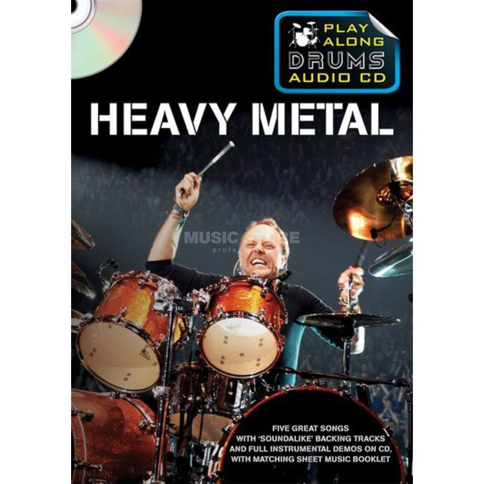 Wise Publications Playalong Drums - Heavy Metal Schlagzeugnoten und CD Produktbillede