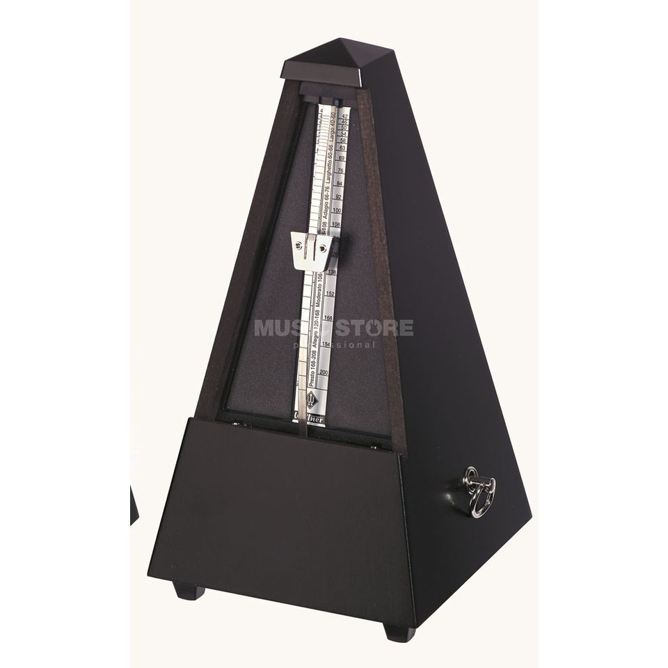 Wittner M 806 M Metronom without Bell Wood Body, Pyramid Form, Black Produktbillede