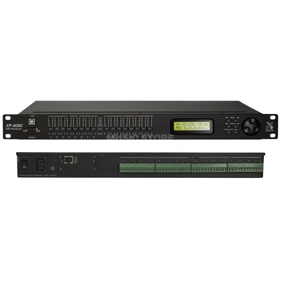 Xilica XP-8080,8IN, 8OUT, Lautsprechermanagement Produktbillede