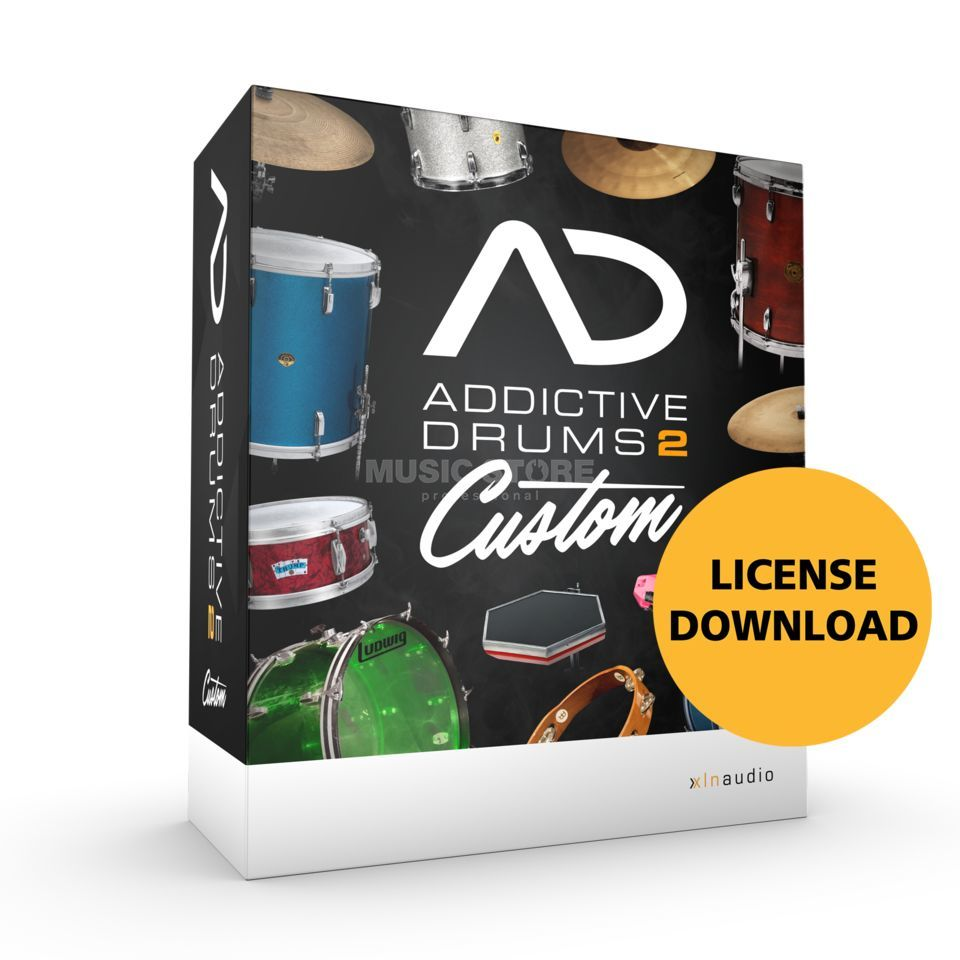 XLN Audio Addictive Drums 2 Custom VSTi Drum Instrument Produktbillede