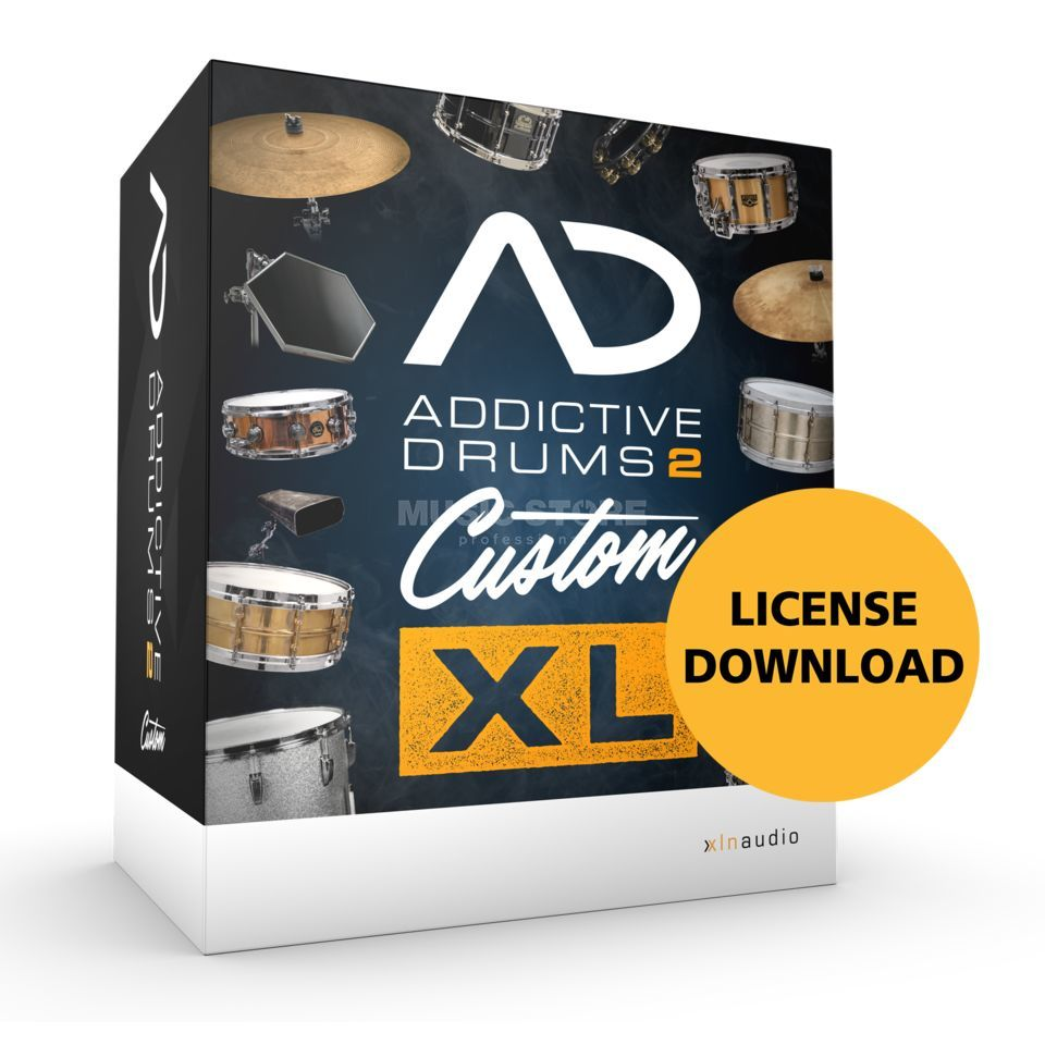 XLN Audio Addictive Drums 2 Custom XL Virtual Drum Instrument Produktbillede