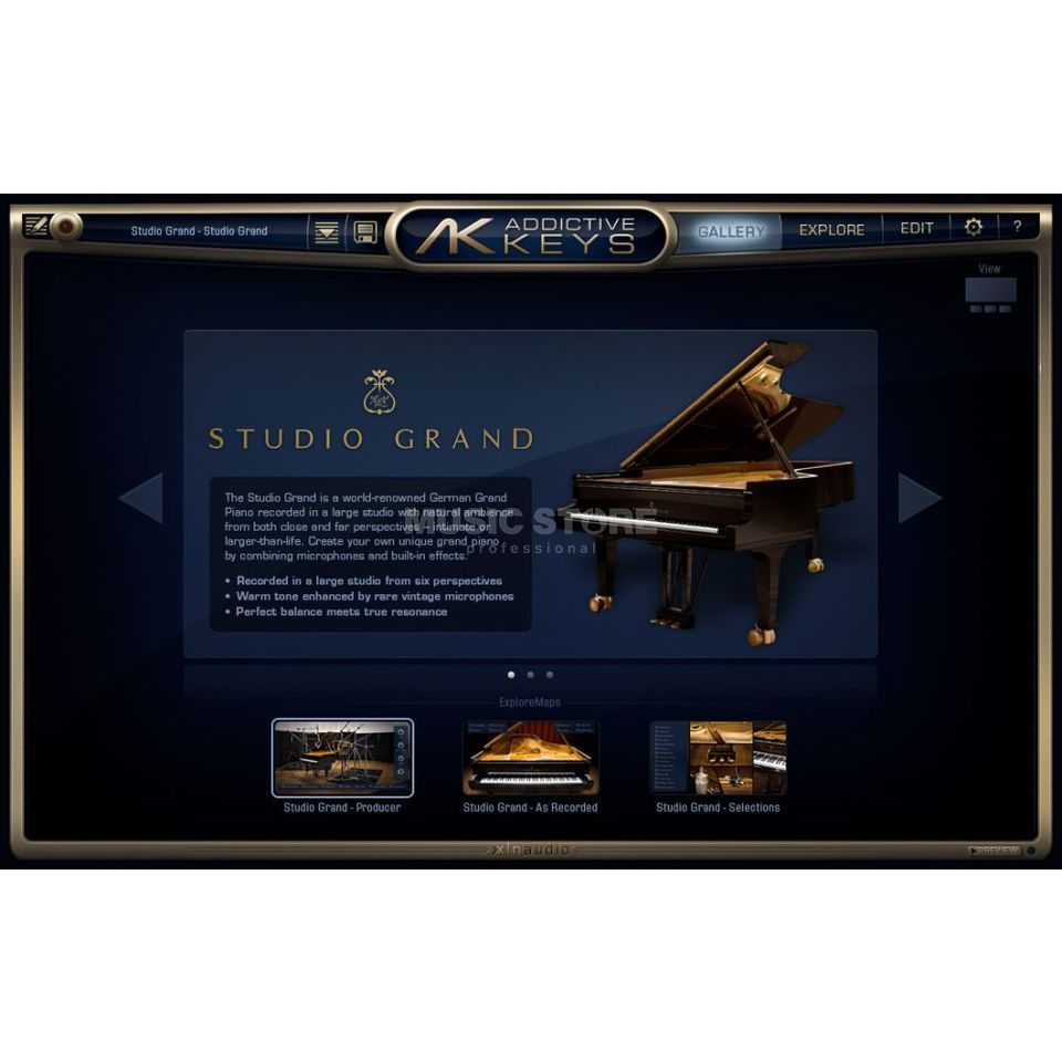 XLN Audio Addictive Keys Upgrade von Addictive Keys Lite OEM Produktbild