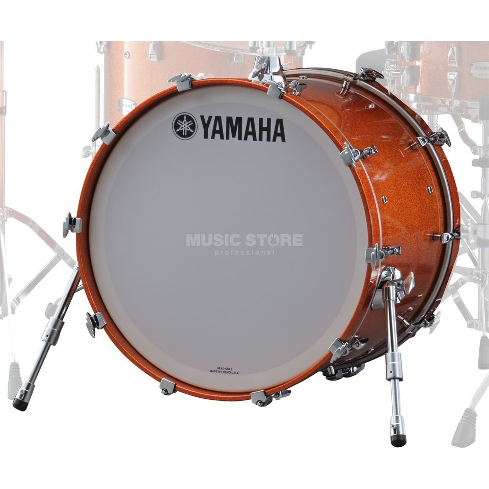 "Yamaha Absolute Maple Hybrid BassDrum 22""x18"", Orange Sparkle #ORS Produktbild"