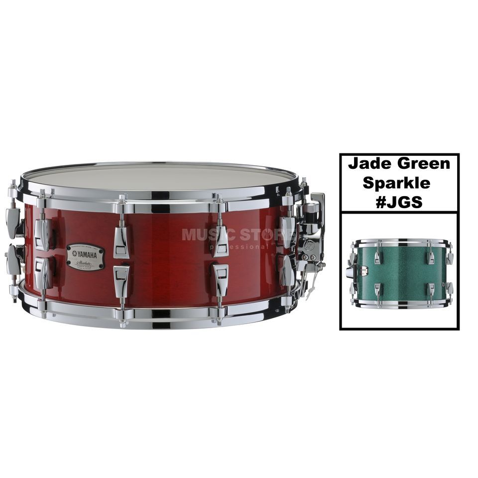 "Yamaha Absolute Maple Hybrid Snare 14""x6"", Jade Green Sp. #JGS Produktbillede"