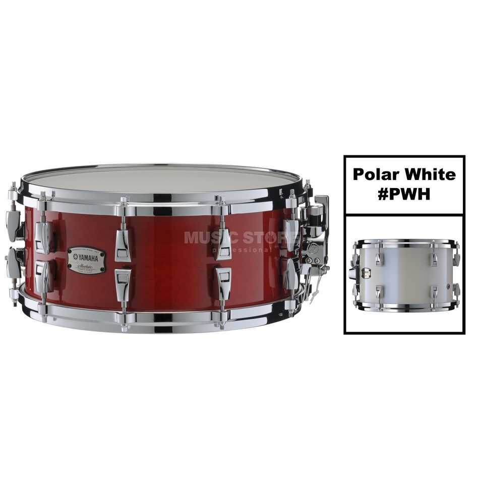 "Yamaha Absolute Maple Hybrid Snare 14""x6, Polar White #PWH Produktbild"