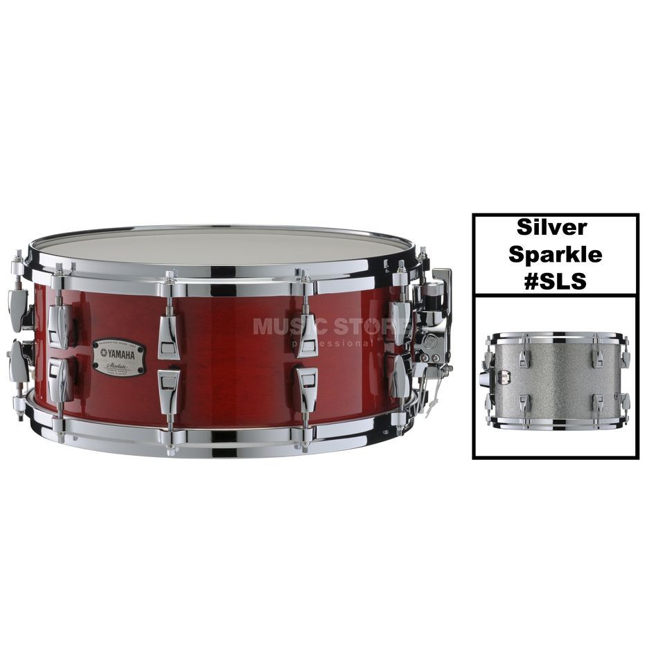 "Yamaha Absolute Maple Hybrid Snare 14""x6, Silver Sparkle #SLS Produktbillede"