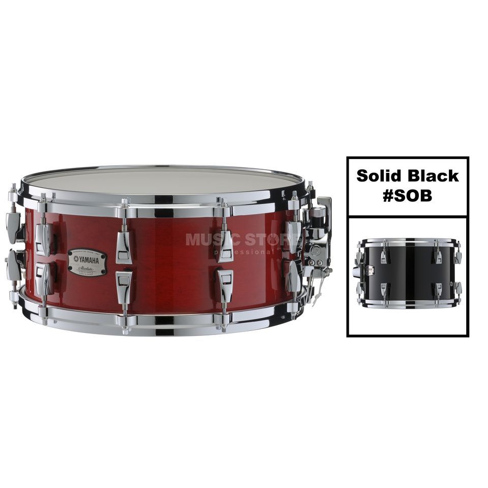 "Yamaha Absolute Maple Hybrid Snare 14""x6, Solid Black #SOB Produktbillede"