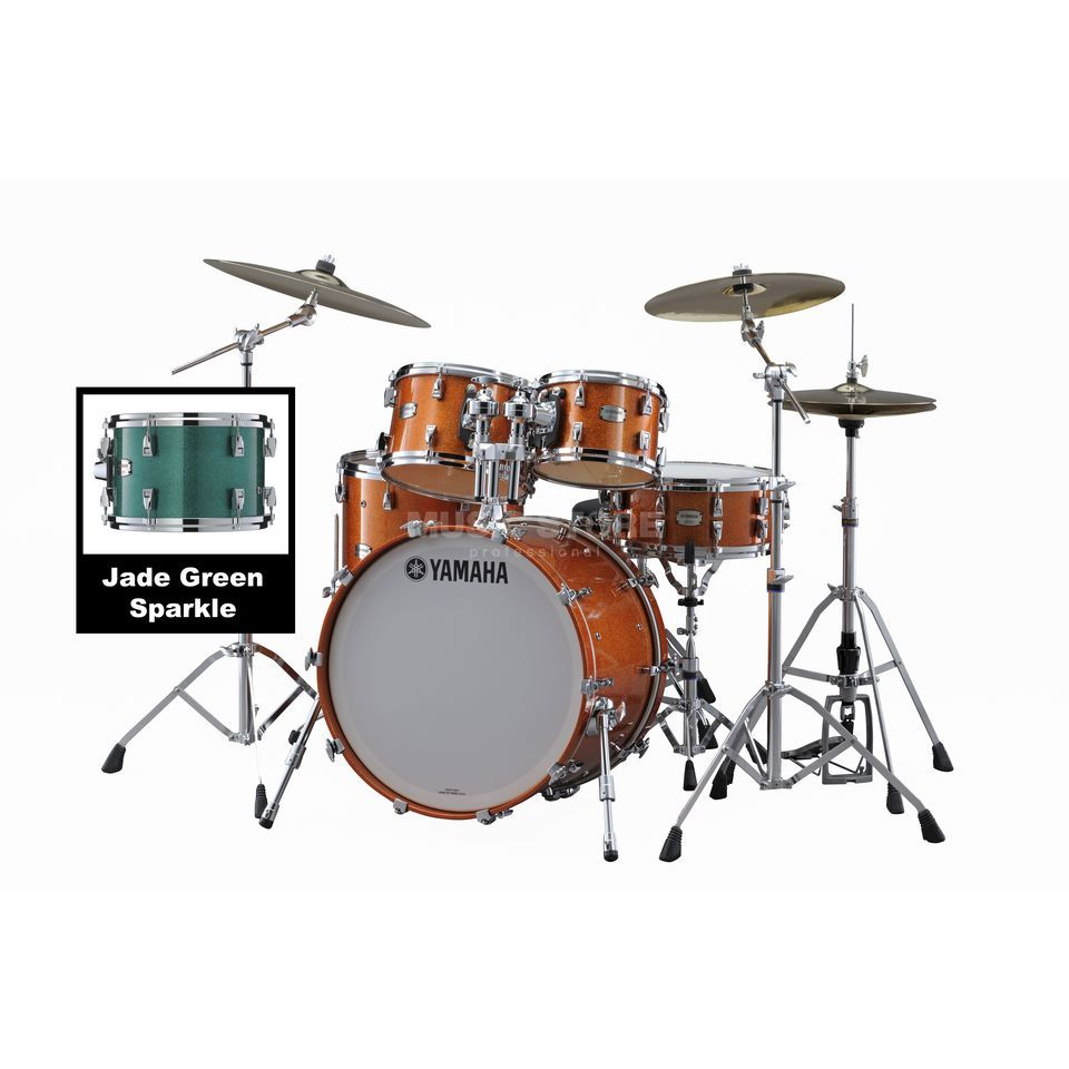 Yamaha Absolute Maple Hybrid Studio Jade Green Sparkle #JGS Produktbillede